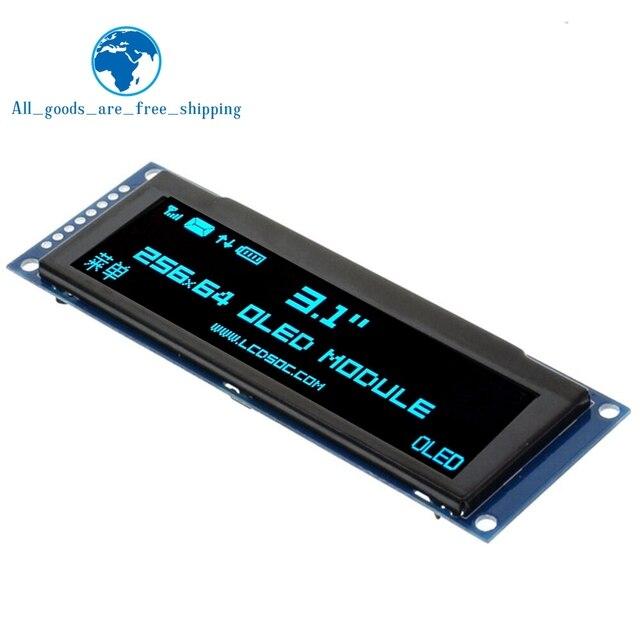 ЖК дисплей TZT с реальным OLED дисплеем 3,12 дюйма, 256*64, 25664 точек, графический модуль, экран LCM, экран SSD1322, контроллер с поддержкой SPI
