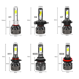 Image 5 - Roadsun H4 LED H7 سيارة العلوي رقائق البوليفيين البسيطة حجم H11 LED H1 9005 HB3 9006 HB4 10000LM 60W 6000K مصباح تلقائي سيارة التصميم 12V