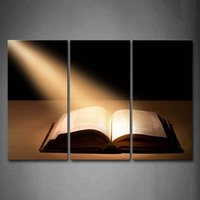 3 Panels Unframed Wall Art Pictures Holy Bible Canvas Print Modern Religion Posters No Frames For Home Living Room Decor