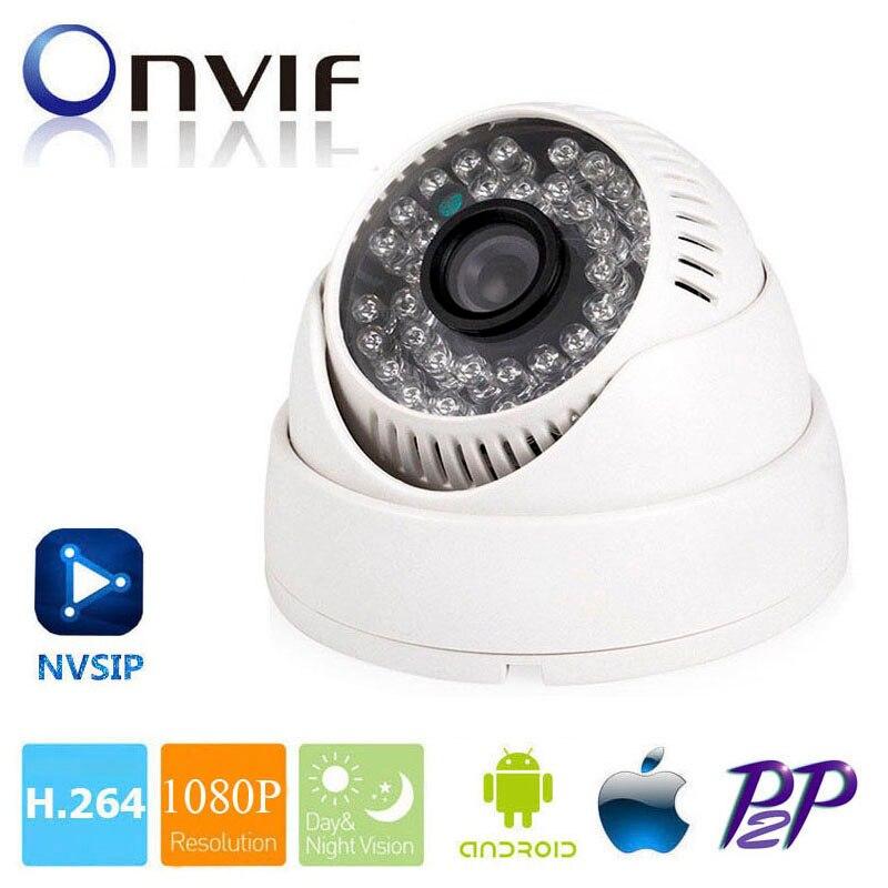 imágenes para Cámara del IP H.264 HD 1080 P 2MP Cámara de Interior de la Bóveda de Vigilancia CCTV Cámara de Seguridad de Red IP Onvif P2P NVSIP Android iPhone vista