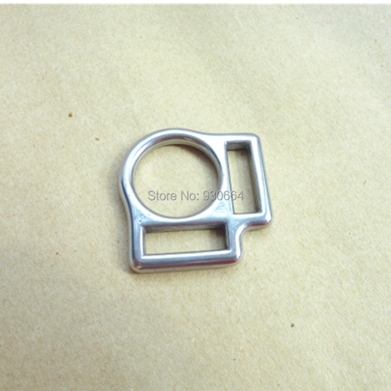 20PCS Per Lot  Stainless Steel Horse Halter Square Buckle With 2 Slots Inner Width 2cm  P009