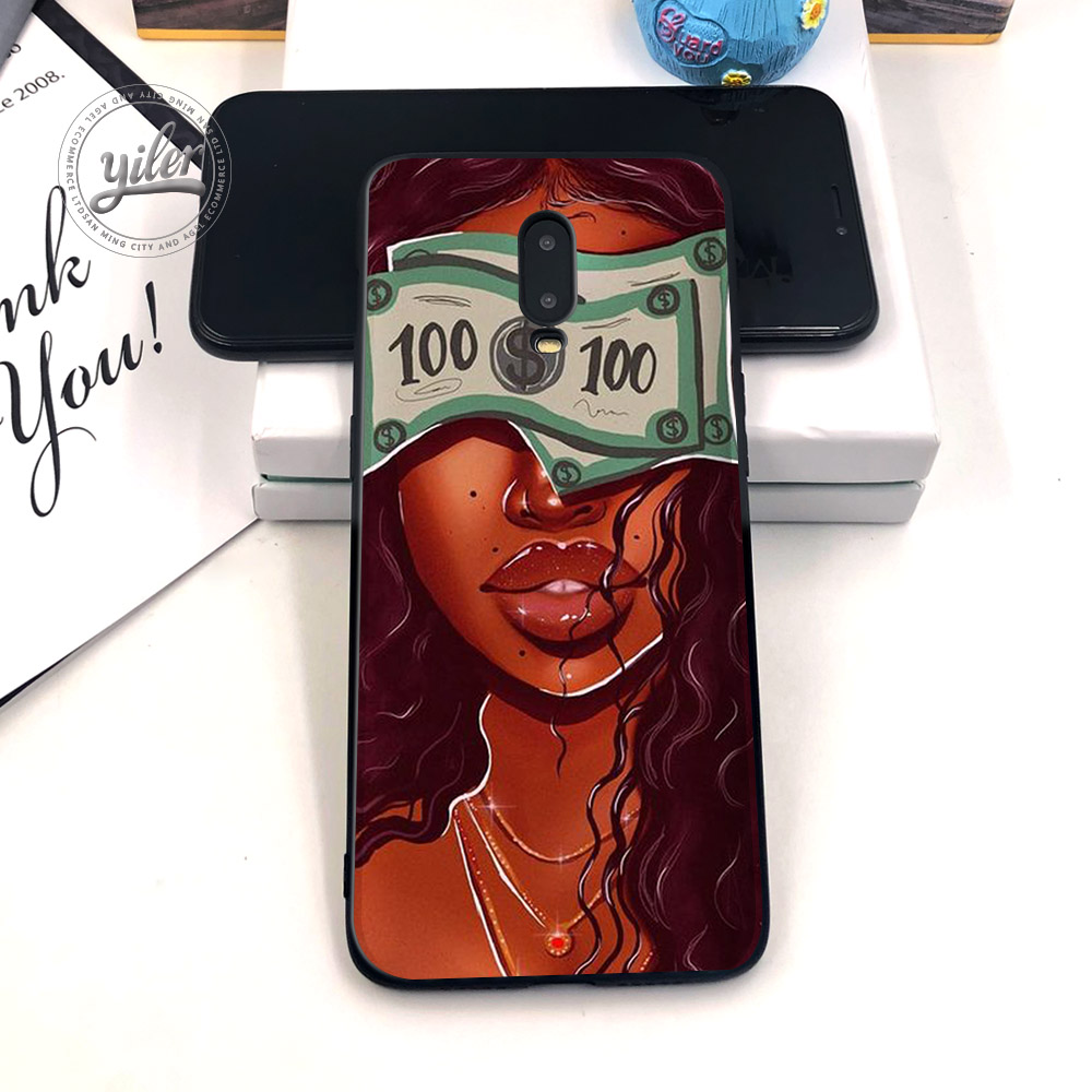 Image 4 - Black Girls for Case Oneplus 6T Phone Cover Black Soft TPU Case for Oneplus 7 Caseing Black Girls for Casing Oneplus 6T Cover-in Fitted Cases from Cellphones & Telecommunications
