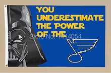 St.Louis Blues star wars Flag 150X90CM NHL 3X5FT Banner 100D Polyester flag grommets 009, free shipping
