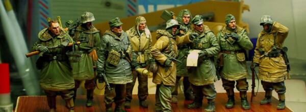 1 35 Resin Kits Big Set Russian Soldier 9pcs set no tank