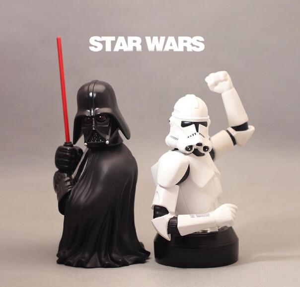 Star Wars Action Figures Darth Vader Clone Trooper Storm Bust Piggy Bank Anime Figure