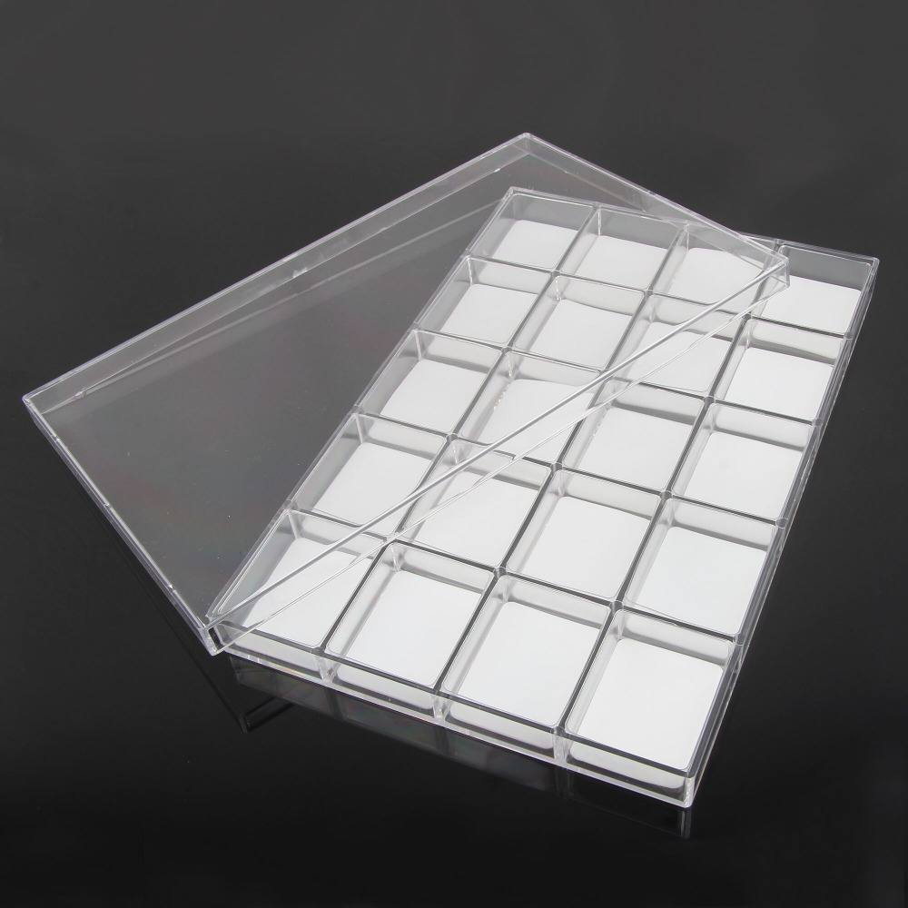 Free Shipping BEAUTY7 Blink Lash Palette Stand Compartment Storage Box For Eyelash Extension Make Up Storage Box Jewelry Plastic lash box