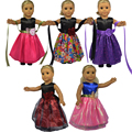 Multi Цвета 18 дюймов American girl кукла Одежда Платье для 18 Дюймов American Girl Куклы