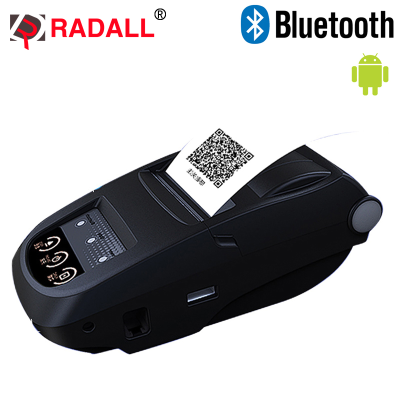 все цены на  Portable Mini 58mm Bluetooth Thermal Printer  Mobie APP QR Code Receipt Printer Support 9 Android /Windows for Store RD-1800  онлайн