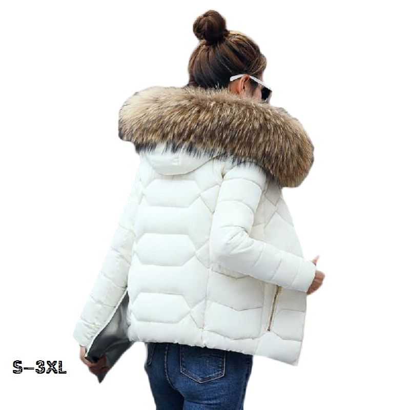 Winter   Parkas   For Women 2019 New Fashionable Artificial Fur Collar Warm Park Winter Jacket Women's Hood Winter Warm Jacket