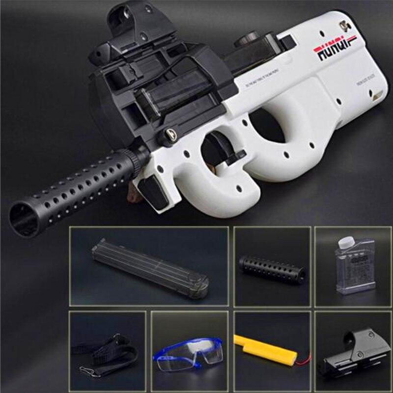 CS Live P90 Jouet Fusil Paintball D'assaut Snipe Arme doux Balle de L'eau Pistolet avec balles Jouets Pour Enfants Électronique jouet