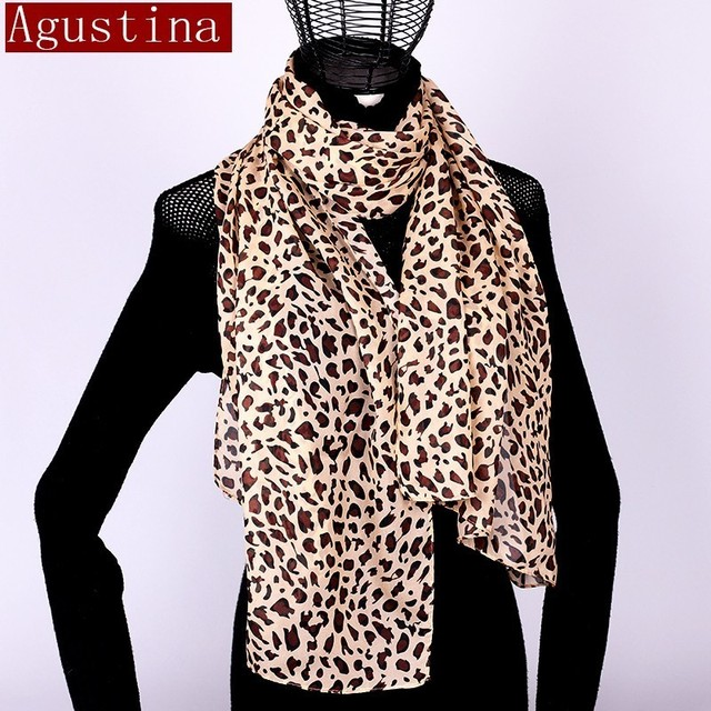 Women scarf chiffon leopard print sjaal poncho scarfs winter hijab shawl animal brand luxury satin ponchos capes coat warm schal 2