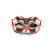 Mask Toy Decoration EL Wire Lighting Red Mask DC 3V Sound Activated Drive Rave Mask For