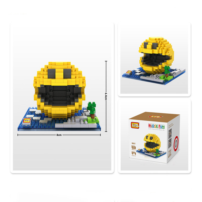 Classic Pacman Game LOZ Blocks model toys brinquedos kids boy girl DIY toy juguetes infantil jouet enfant Birthday gift nintendo gbc game video card pokemons classic collect classic colorful edition