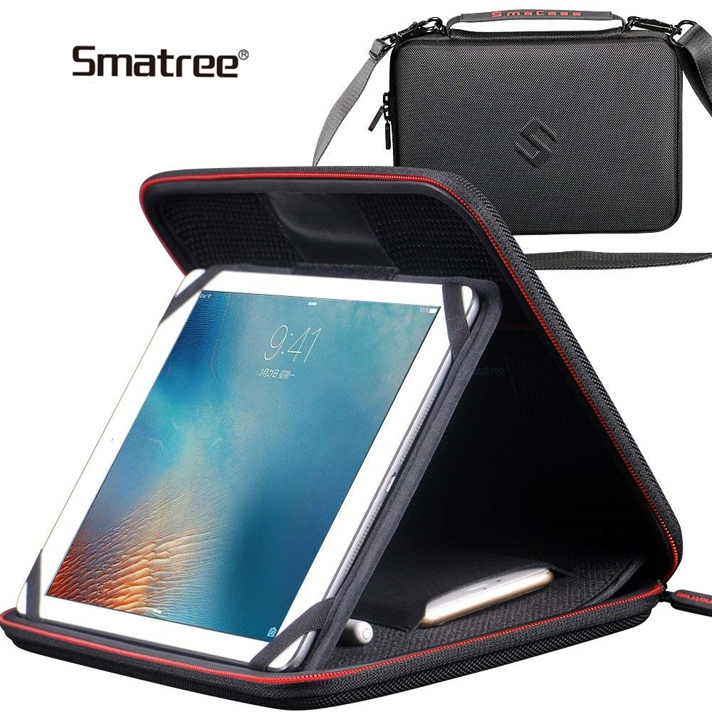 Smatree Portable Protective Bag Carry Case For iPad Pro 9.7/10.5 Inch Storage Waterproof Hardshell Handbag For Iphone Pencil fashionable handbag style protective polyester sponge pouch bag for ipad red