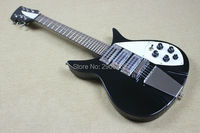 Hot Sale rickenback electric guitar black color Korea hardware ricken 3 wax pickups backer real guitar pictures high quality