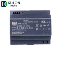 Meanwell HDR 150 24 24V 5.31A 127.4W 6.25A 150W slim step shape 85 264VAC 120 370VAC to DC Single output DIN Rail Power Supply
