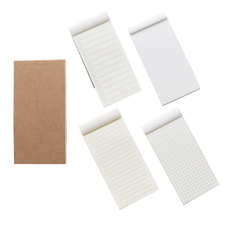 Pocket Kraft Paper Notepad Record Memo Pad Scrapbooking Note Pad To Do List Tear Checklist Memo Note Stationery Joy Corner