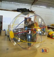 PVC or TPU human size floating inflatable water walking balls for sale