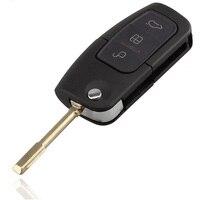 MAYITR 3 Button Flip Remote Key Fob Folding Keyless Entry 4D60 Chip For Ford BA Falcon