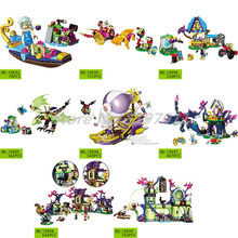 Building Blocks Elves Series The Goblin King's Fortress Aira's Airship Princess Evil Dragon Naida's Gondola Toys For Children(China)