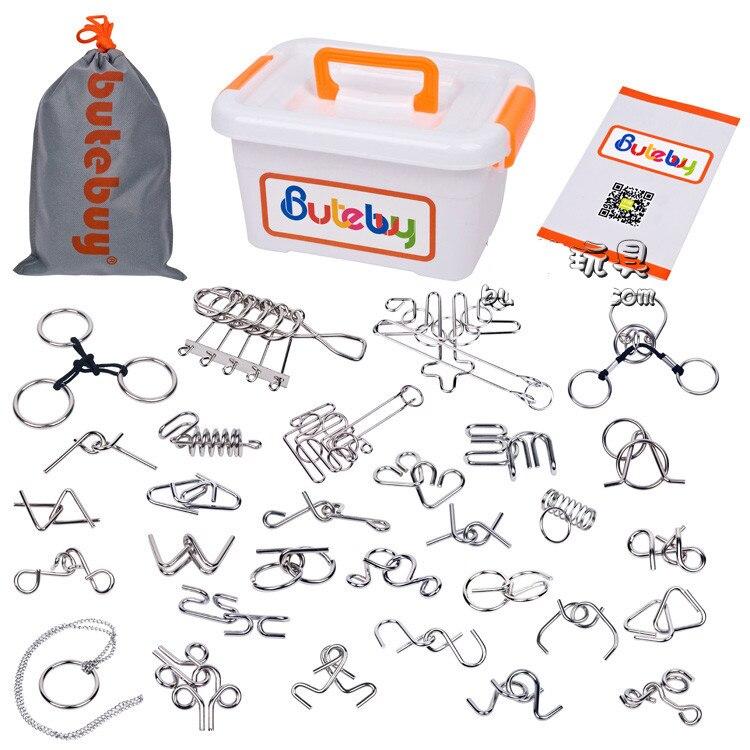 30 pièces/ensemble IQ métal démêlement fil Puzzle magique jeu de casse-tête pour adultes enfants