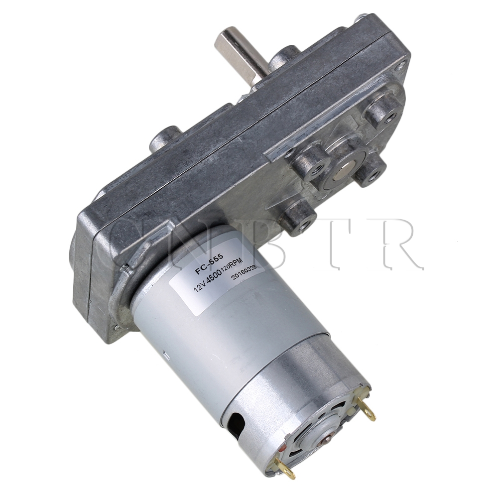 CNBTR 12V 120RPM No-load Speed High Torque Electric Square Gear Box Geared Motor zndiy bry 16ga 120 dc 12v 120rpm geared motor silver