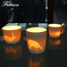 Japanese Kinto Mugtail Mug Kawaii Fairy Tale Animal Ceramic Tea Coffee Mug Cute Candlestic for Girl Friend Children Gift
