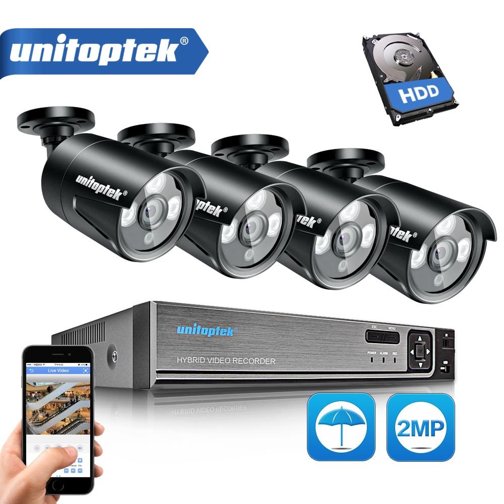 3 в 1 4CH 1080 P безопасности AHD DVR NVR CCTV системы 2.0MP 3000TVL всепогодный Открытый камера AHD-H товары теле и видеонаблюдения комплект