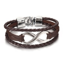 2017 Male alloy jewelry jewelry leather bracelet leather men's and women's friendship bracelet quality bracelet