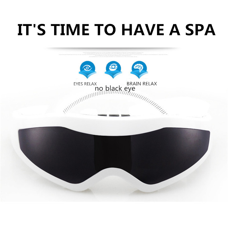 2016 Fashion USB Electric Vibration Release Alleviate Fatigue Magnet Messaging Eye Massager 170*65*105mm 9 Modes Eye Care Nurse electric eye massager glasses magnet tharapy massage eye care vibration release alleviate fatigue forehead eye massager tool