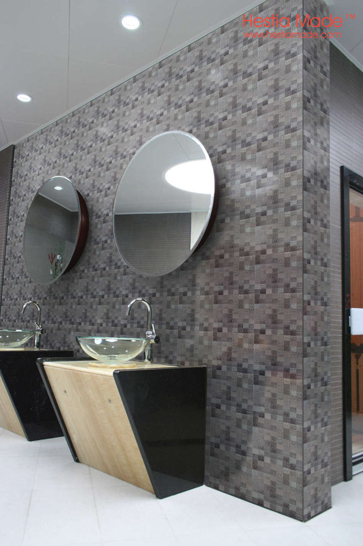 Hestia Made Modern Art Silver Grey Ceramic Mosaic Tile Bartop Bathroom Art  Background Mosaic Wall On Aliexpress.com | Alibaba Group