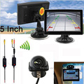 """Wireless HD Vehicle 5"""" TFT Monitor Screen with CCD Car Rear view Camera Reversing  Back up Parking sensor CAR Assistance"""