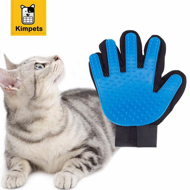 Petmate 1pc New Pet Clean Combing Cats Dogs Gent True Touch Deshedding Brush Glove Pet Efficient Massage Grooming Easy Hair Away