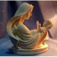 Madonna And Child Figurine Virgin Mary Holding Baby Jesus Statue Christmas Decorations For Home Christmas Gift R812