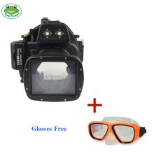 For Canon EOS M2 Camera Waterproof Housing Case Scuba Diving Underwater 40m Photography Videography Photo Equipment Glasses Free