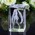 Envío Gratis Qulity Del Hight Original Vocaloid Hatsune Miku Estilo 3D de Cristal Decoración Modelo de Juguete de Regalo con la Caja Al Por Menor Limited Ver