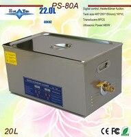 Neueste 110V/220V 40KHz 600W PS 80A Digitale heizung & timer Ultraschall Reiniger 20L für elektronische komponenten|cleaner keyboard|cleaner washcleaner air -