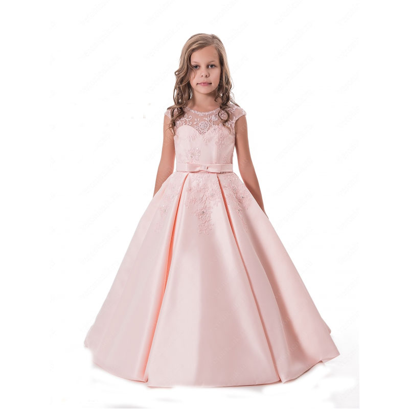 Ankle-Length Flower Girls Dresses for Wedding Lace Holy Communion Dresses A-Line Mother Daughter Dresses for Little Girls lace flower girls dresses sleeveless first communion dresses for little girls a line tulle ankle length mother daughter dresses