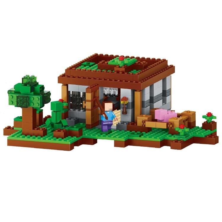 408PCS Enlighten Mine World font b Minecrafted b font Minifigure First Night Building Blocks Brick My