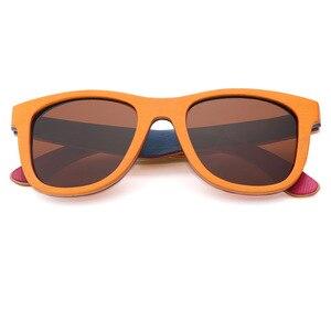 Image 5 - BerWer gafas de sol polarizadas de madera para hombre y mujer, lentes de sol de monopatín en capas, de madera, Estilo Vintage Retro