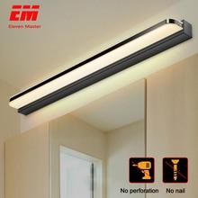Светодиодный светильник-зеркало 40/50 см, 9 Вт/12 Вт, AC220-240V, водонепроницаемый, современный косметический акриловый настенный светильник для ванной комнаты, бра, лампа ZJQ0004