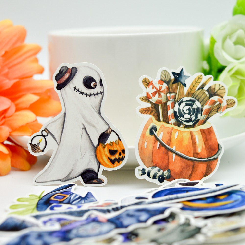 33pcs Watercolor Halloween Demon Kawaii Sticker Decoration Notebook Planner Stikers Scrapbooking/ DIY Bullet Journal Adesivo