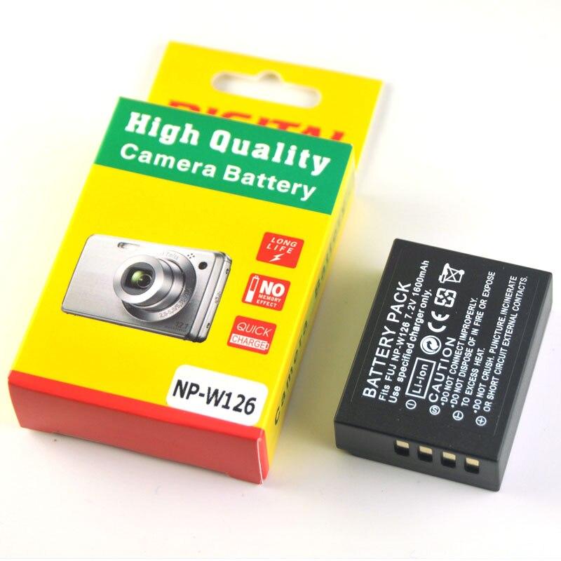 1600 mAh NP-W126 NP W126 batería para Fujifilm HS33 HS33 HS35 HS35 HS50 EXR XT1 XE1 XE2 XA1 XM1 XPro1 t1 E1 E2 M1 Pro1 baterías