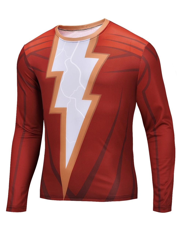 New 2015 Batman <font><b>Spiderman</b></font> Ironman Superman Captain America Long sleeve Marvel T shirt Avengers <font><b>Costume</b></font> Comics Superhero mens