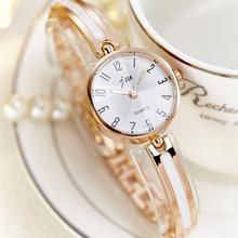 JW Brand Luxury Crystal Rose Gold zegarki damskie moda bransoletka zegarek kwarcowy kobiety sukienka zegarek Relogio feminino Orologio Donna tanie tanio Wstrząsy 25mm Quartz 22cm Okrągłe 10mm Szklane 3Bar Papieru Fashion Casual Bracelet Clasp JW5500 Stal nierdzewna Gold Silver White