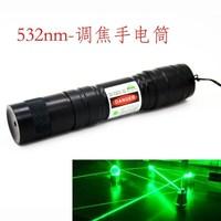 Sterke Groene Laser Pointer 5000 mw 5 w 532nm High Power Focusable Kan Brandende Match, Burn Cgarettes, Pop Ballon + Changer + Doos
