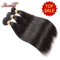 Annabelle Hair Company Unprocessed Brazilian Virgin Hair Straight 3PC Grade 6A Brazilian Virgin Hair Human Hair Weave Bundles