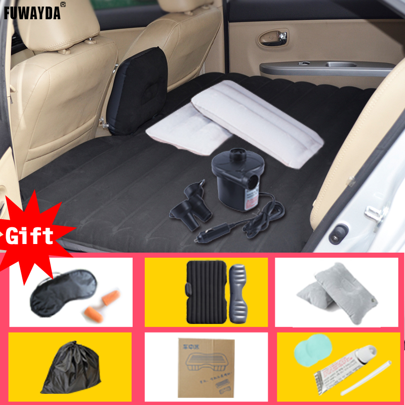 FUWAYDA high quality black Offroad Travel Inflatable car bed  Inflatable seat outdoor sofa thicken outdoor mattress car mattress