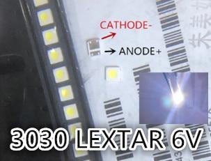 Light Beads Analytical 500pcs Pct Lextar 3030 High Power Led 1.8w 3030 6v Cool White 150-187lm Pt30w45 V1 Tv Application Lextar Led Backlight 3030 6v 50% OFF