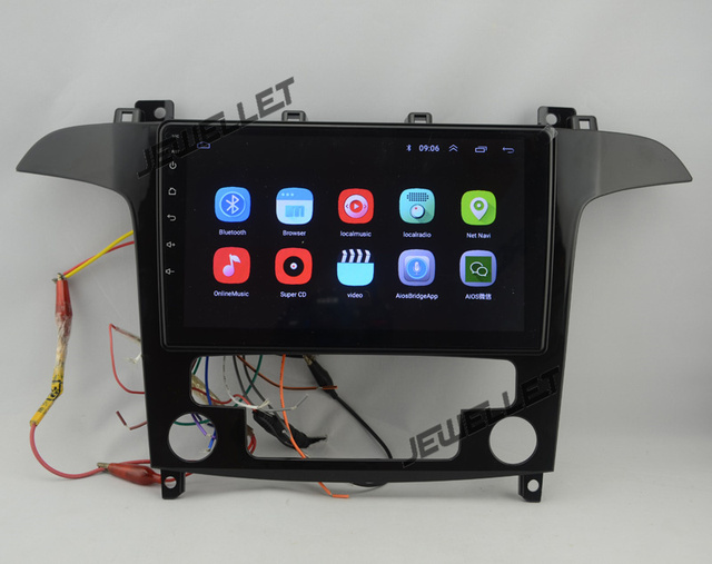 """9"""" Quad-core 1024*600 HD screen Android 8.1 Car GPS radio Navigation for ford S-Max Galaxy 2007-2008"""